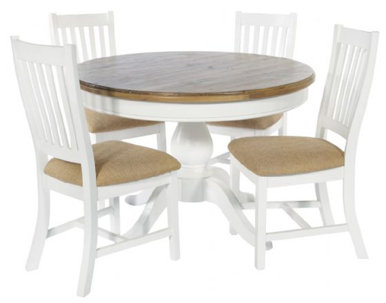 Trebetherick Round Dining Table & 4 Chairs - Special Order